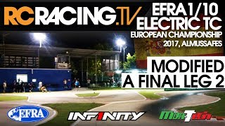 EFRA 1/10th Electric Touring Car Euros 2017 - Modified A Final Leg 2