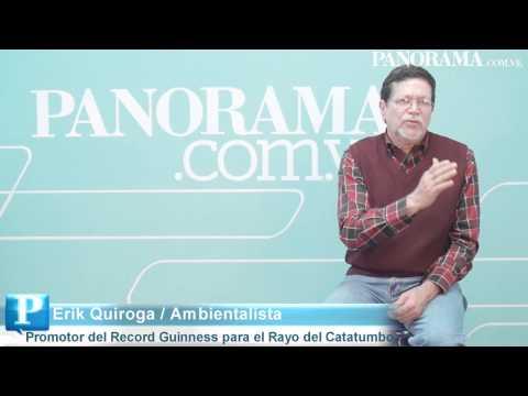 Erik Quiroga, promotor del Récord Guinnes para el Relámpago del Catatumbo