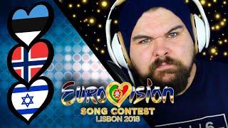 Reviewing Eurovision 2018. ISRAEL, ESTONIA & NORWAY.