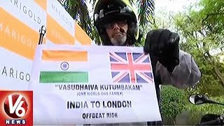 Father-son Duo Embarks On Bike Ride From Hyderabad To London