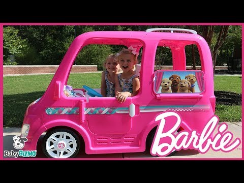 NEW Barbie Dream Camper Power Wheels Ride-On Vehicle with Twins **SO CUTE** MP3