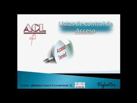 ACL - Listas de Control de Acceso 1/4