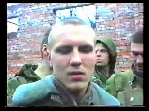 Russian marines give interview during assault of Grozny.