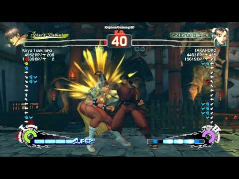 SSFIV AE: Kiryu Tsukimiya (Guy) vs TAKAHOKO (Chun Li) TRUE-HD QUALITY