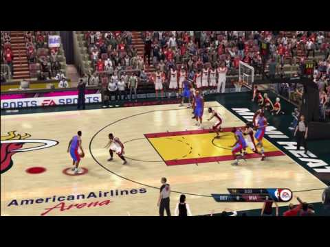 NBA Live 10 Pistons @ Heat Q1 Video