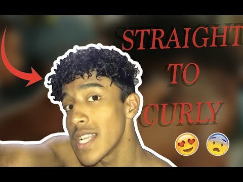 HOW TO GET CURLY HAIR | MENS PERM TUTORIAL | ( NO HEAT)
