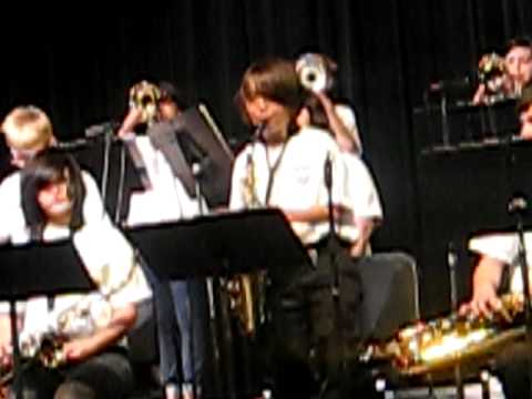 The Wilson Middle School Jazz Band Playing Alright Okay You Win