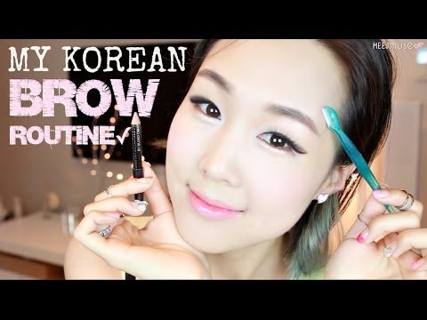 Easy Natural Korean Brows in 3 Minutes ♥ Shaping. Grooming. Drawing   이쁜 눈썹 만들기 비법