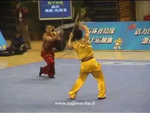 Amazing Choreographed Fight / 10th China Games. Duilian