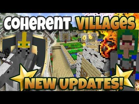 COHERENT VILLAGES *NEW UPDATES* | MINECRAFT NEW MOD 1.12