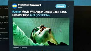 Todd Phillips Says His Joker will Upset Comicbook Fans