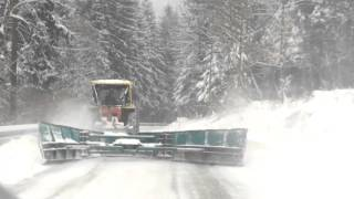 Snow Plowing South-east Slovenia 2016