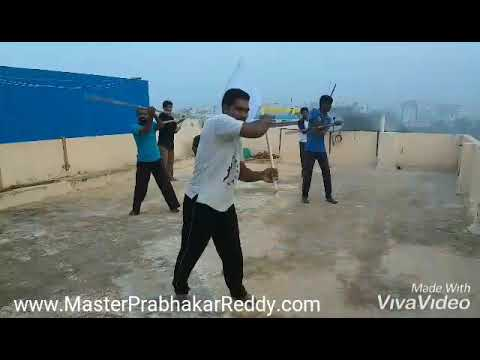 Kung-fu Flag staff training teach Shifu Master Prabhakar Reddy India shaolin Nellore Martial arts AP