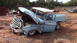 Scrapped! 65 Ford f100 Once Restored Wreck
