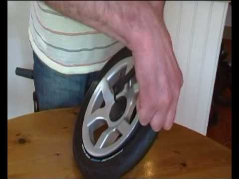 removing a pram tyre 1