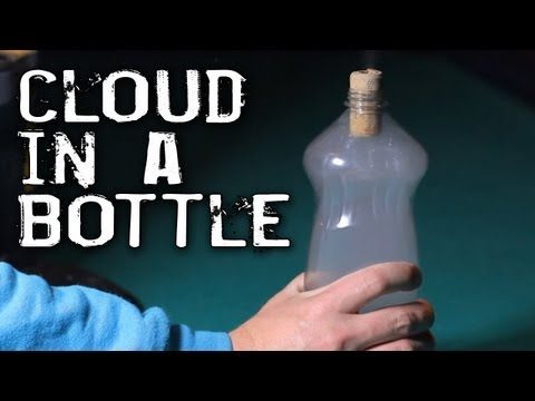 clouds in a bottle How to make a cloud in a bottle there's no need to look up to see the clouds in the sky when you can make a fun cloud of your own at home all you need is a glass jar or plastic soda bottle and a few common household items.