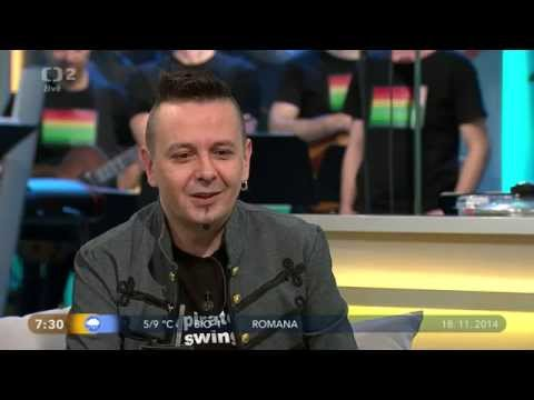 Jiri Sevcik + PIRATE SWING Band - Interview + Viva La Vida (live, Dobré ráno 2014)