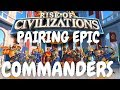 Rise of Civilizations - Pairing Epic Commanders Guide - tips and advices