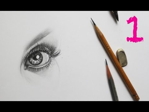 Видео как нарисовать глаз
