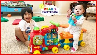 Vtech Sit-to-Stand Alphabet Train playtime and unboxing toy review with Ryan