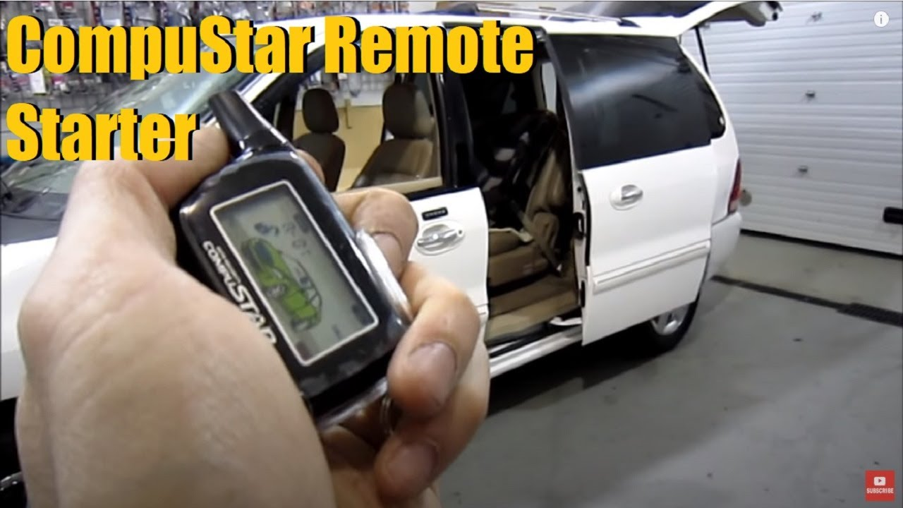 Compustar Security  U0026 Remote Start Demonstration  2006 Ford Windstar