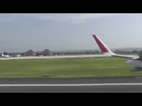 Air Asia Flight QZ8497 landing at Bali (Ngurah Rai) International Airport