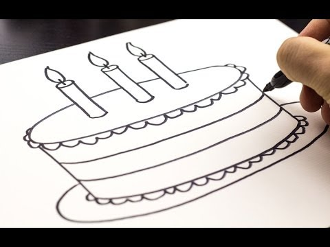 Mother Birthday Card Drawing How to Draw a Birthday Cake