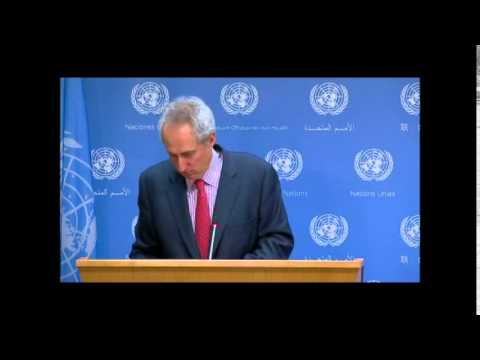 On Syria, UN Spox Conflates Khan al Assal With Later