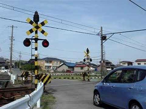 三岐鉄道 旧式踏切警報機 Sangi Railway old type railroad crossing warning signal