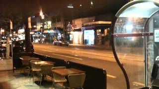 cafe tables on Commercial road