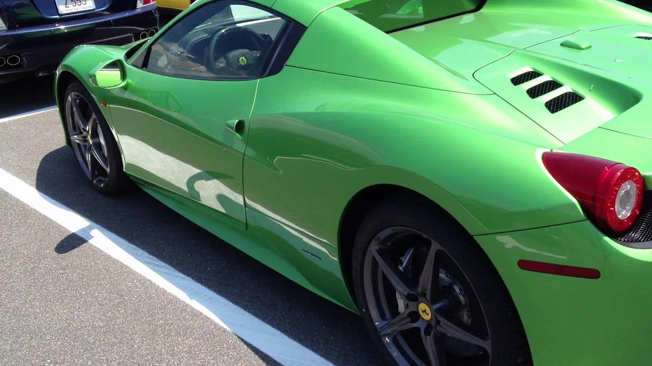 Lime Green Ferrari 458 Italia Spyder Youtube