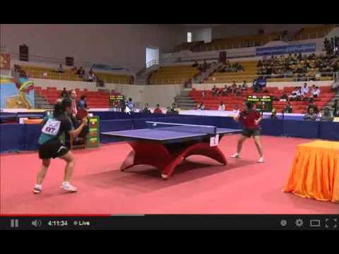 Video Tenis Meja SEA Games 2013 - Beregu Putri Indonesia Vs Singapura Di Group X