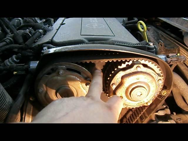 Замена ремня грм опель астра 1.6  видео