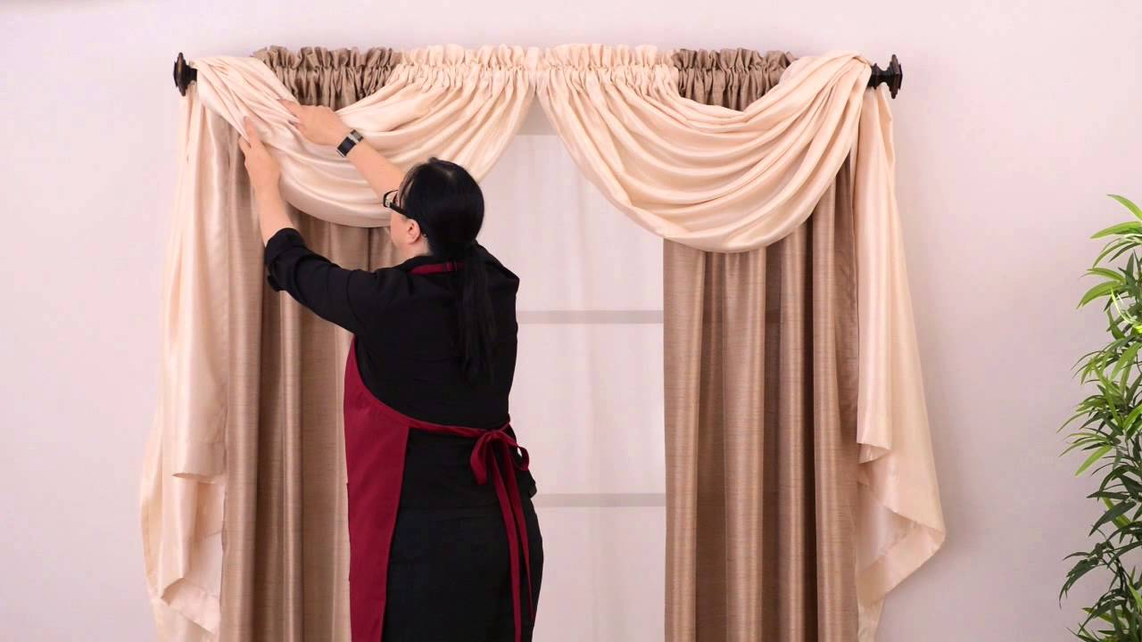 Anna's Linens - Annabella Easy Window Valance - YouTube