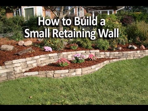 how to build a small retaining wall in a weekend youtube. Black Bedroom Furniture Sets. Home Design Ideas