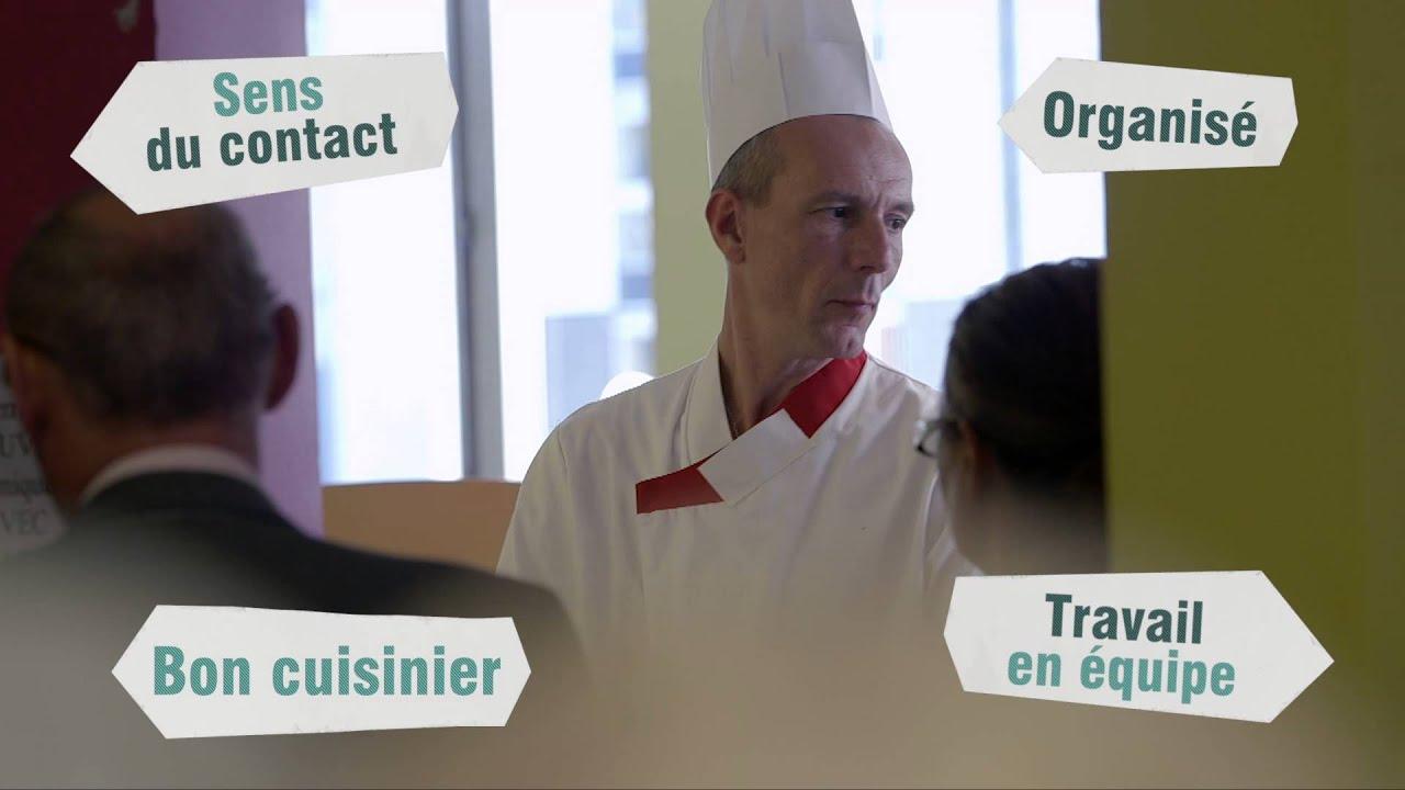 Beau travail cuisinier youtube for Emploi cuisinier