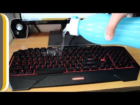 Asus Cerberus 30500 Splashproof Gaming Keyboard UNBOXING / DEMO / REVIEW [Red/Blue]