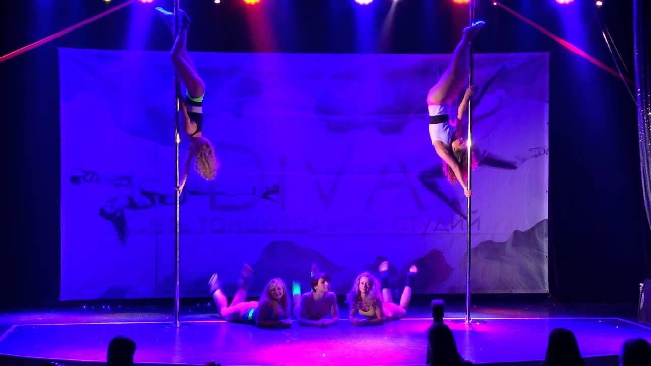 """Отчетный концерт Pole Dance в клубе """"Олимпия"""" 07.06.2015 года. Педагог Анна Кошкина с ученицами"""