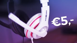 €5 Action Koptelefoon - Mooi of zooi? Maxxter Gaming Stereo Headset