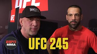 Mark Coleman, Matt Brown on training together | UFC 245 Media Day | ESPN MMA