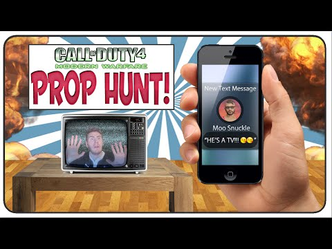 Call of Duty 4 Prop Hunt: Let's Play 20 Questions and Moo's a Cheater!