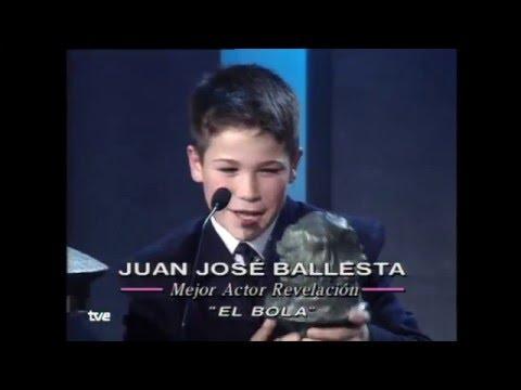 Juan José Ballesta Goya gana el Goya a Mejor Actor Revelación en 2001