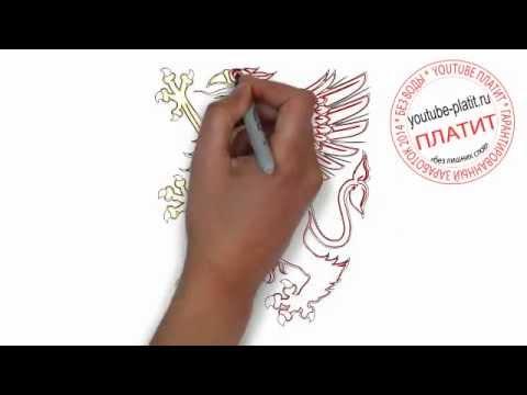 Видео как нарисовать герб карандашом поэтапно