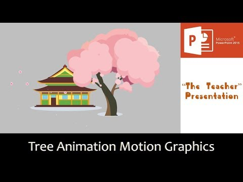 Cherry Blossom Tree Animation Motion Graphics in PowerPoint 2016 Tutorial | The Teacher