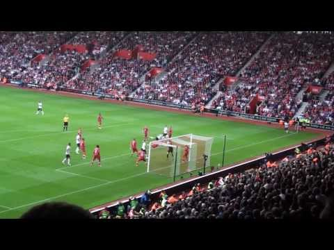 The Loudest Goal Celebration Ever - Robin Van Persie Header at Southampton 02.09.12