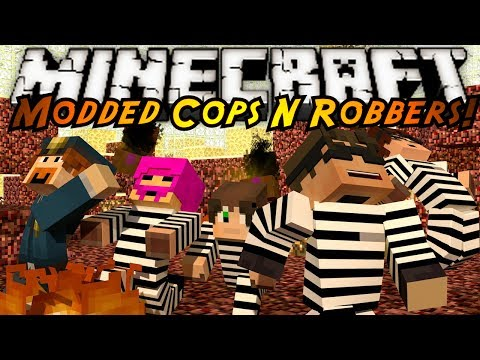 Minecraft Mini Game : MODDED COPS N ROBBERS PANDORAS BOX