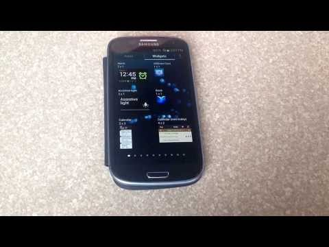 How to turn on the flashlight / led spotlight on a samsung galaxy s3
