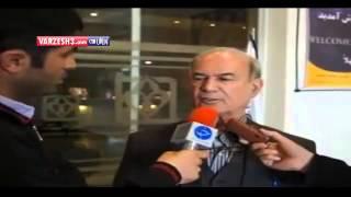 ضربه  بهرام افشارزاده مدیرعامل باشگاه استقلال به شکم خبرنگار