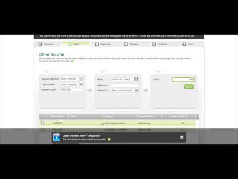 SageOne Accounts Tutorial - Bank Part 6 - Sage Training