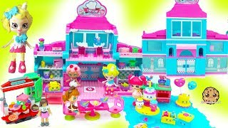 Happy Places Petkins Shoppies Doll Haul At Shopkins Chef Club House  - Cookie Swirl C